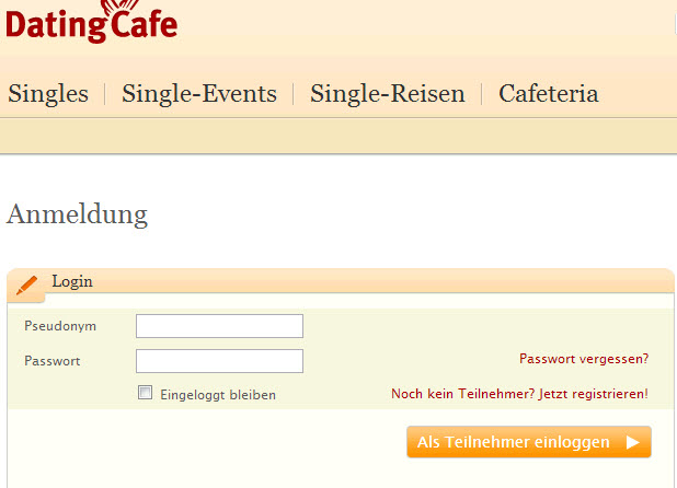 Partnervermittlung dating cafe